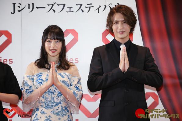 ジャニーズWEST 藤井流星と桜井日奈子がタイで日本のドラマをPR!